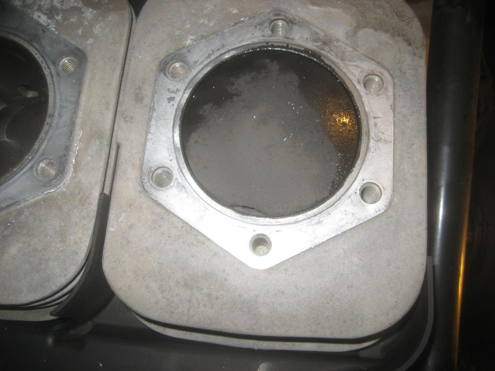 2012 Polaris IQ Shift 550 Fan with another burnt piston  - HCS